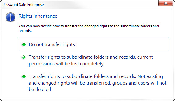 Manage permissions and rights